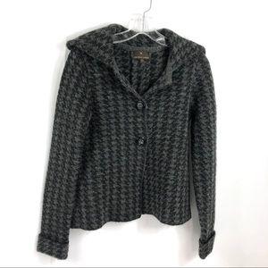 Penn Wright Manson Herringbone Knit Coat S